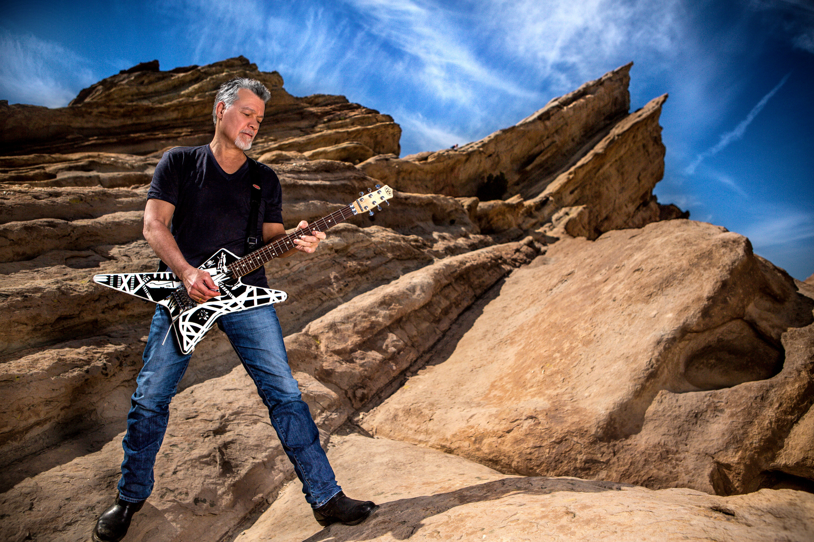 Eddie Van Halen 2015 Guitar World by Ash Newell Photography