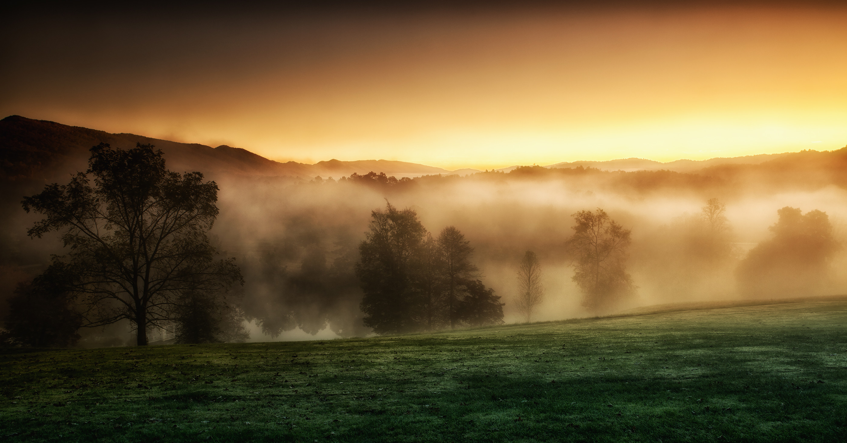 Autumn Sunrise on the Tennessee Smoky Mountains at Blackberry Farm