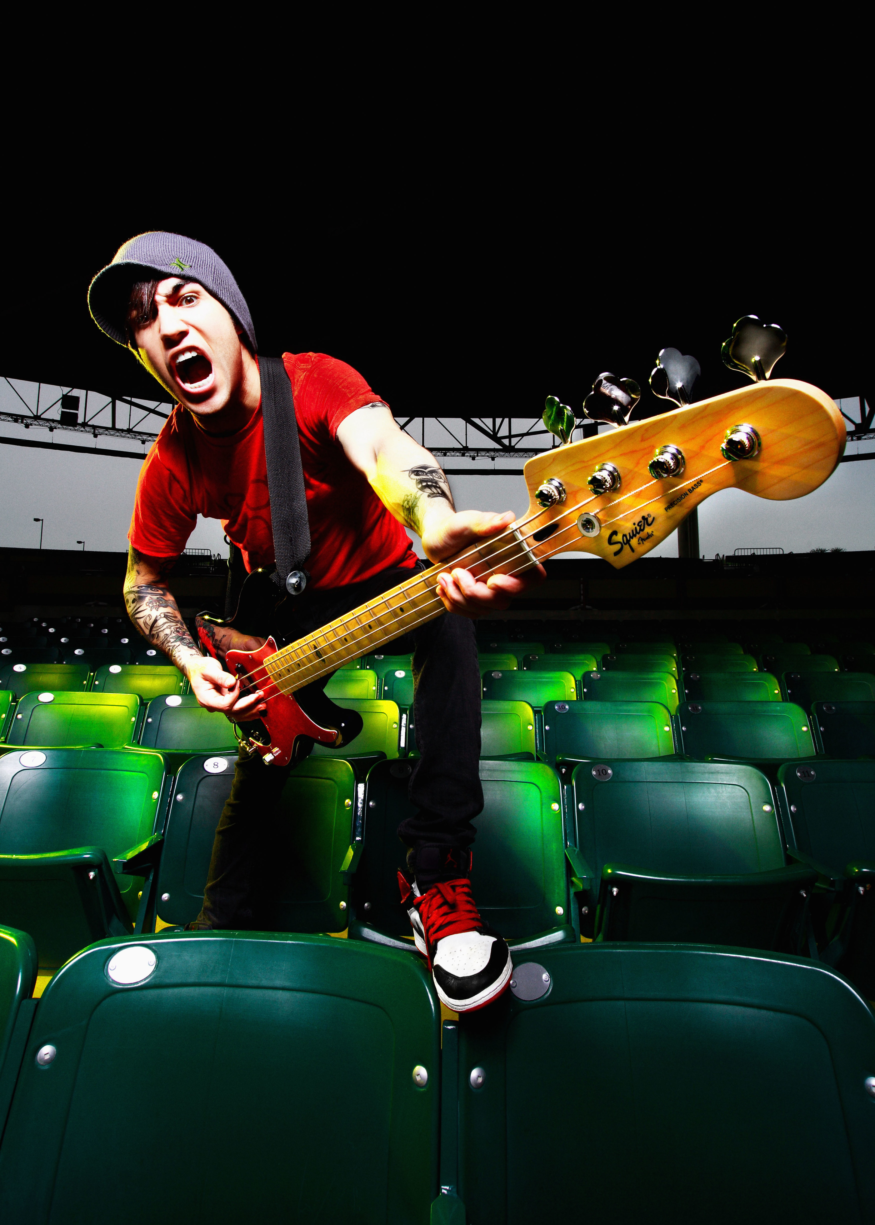 Pete Wentz Squier Basses 0010 © Ash Newell Photography