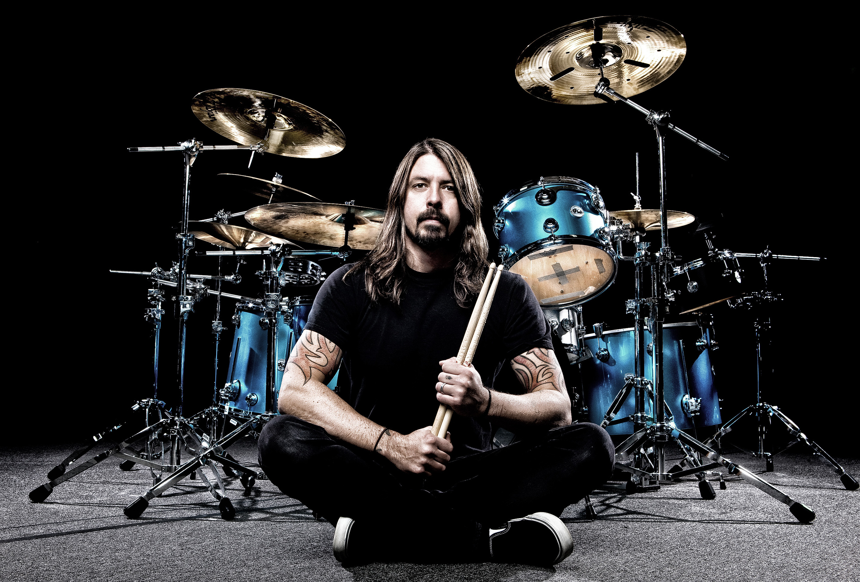 Dave Grohl Modern Drummer Photoshoot