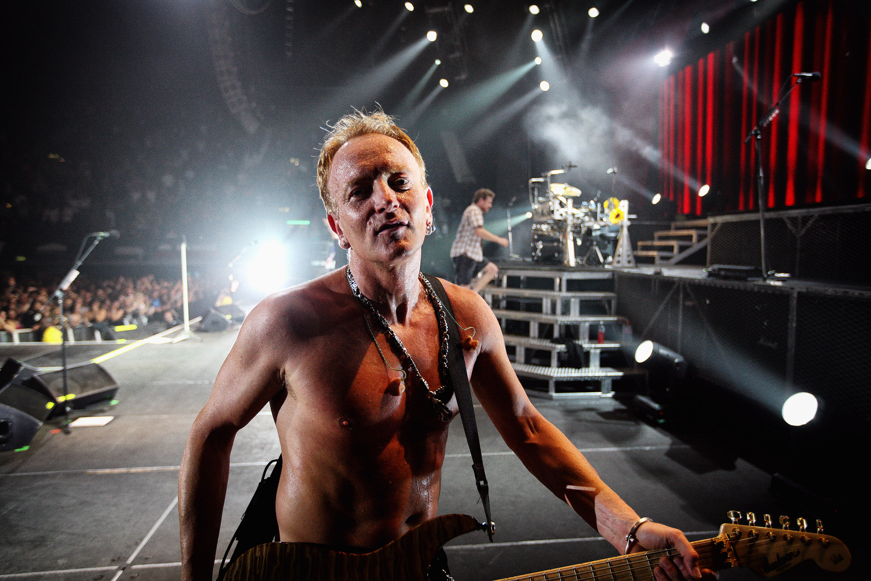 Phil Collen Def Leppard onstage at Wembley Arena London by Ash N
