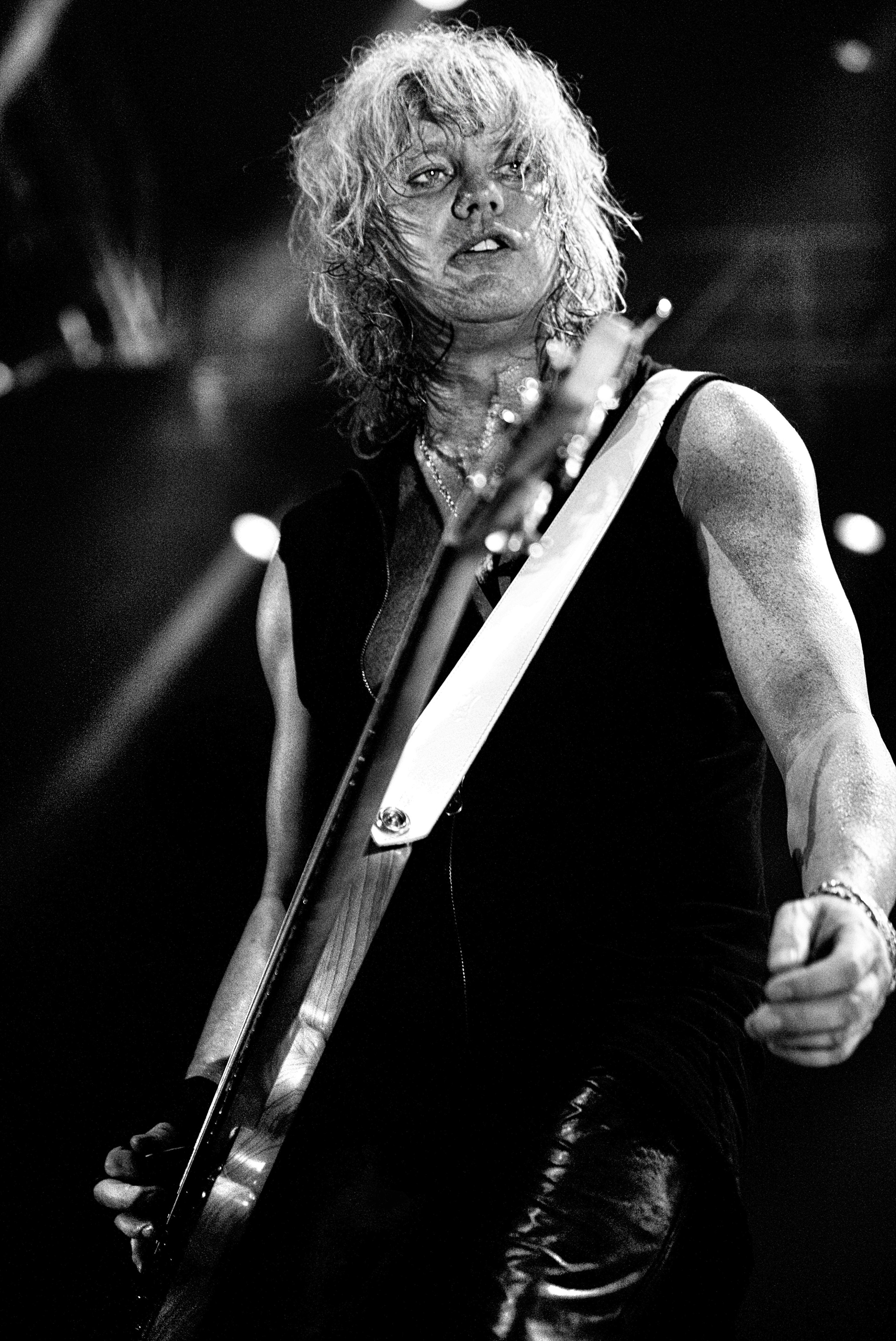 Rick Savage Def Leppard Belfast onstage 2008 by Ash Newell