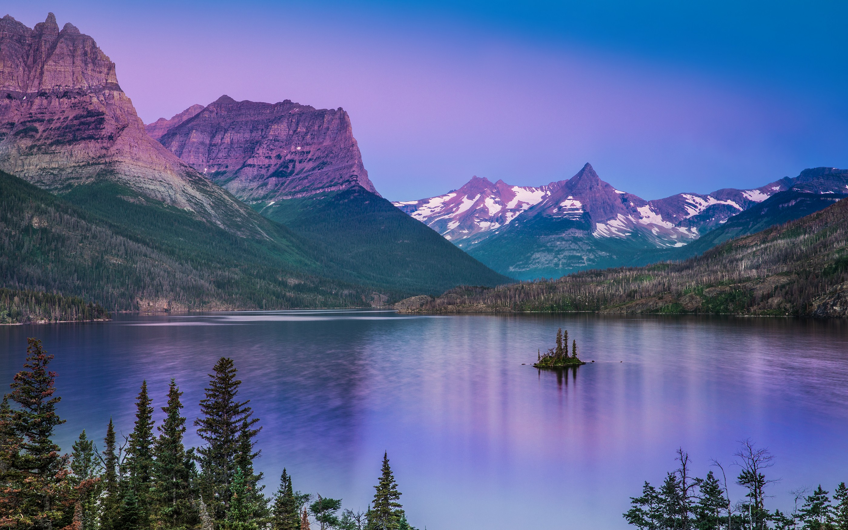 sunrise-saint-mary-lake-glacier-national-park